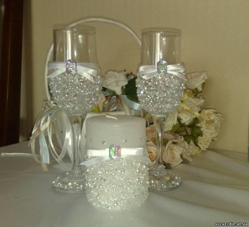 Фужеры на жемчужную свадьбу