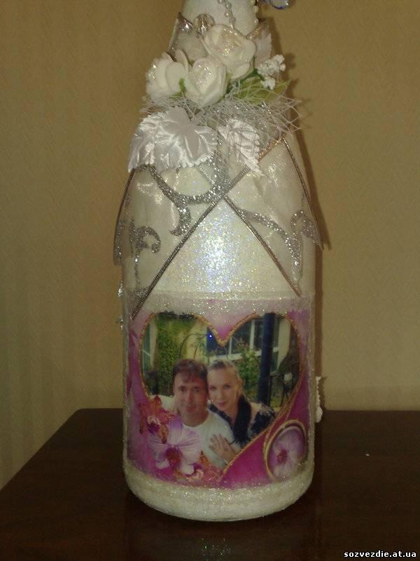 Бутылка невесты.  Декор свадебных бутылок.